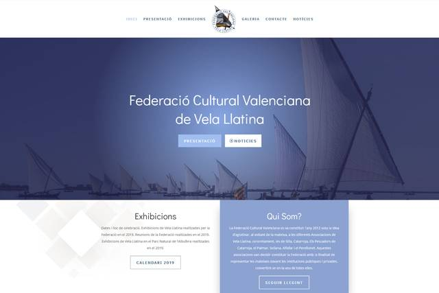 Diseño Página Web Federación Vela Latina